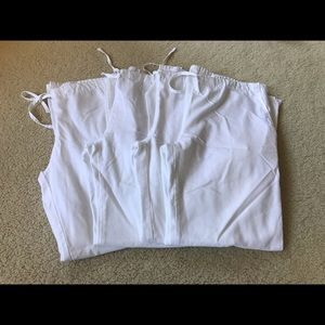 Cherokee Set of 4 White Scrub Pants Sz Small